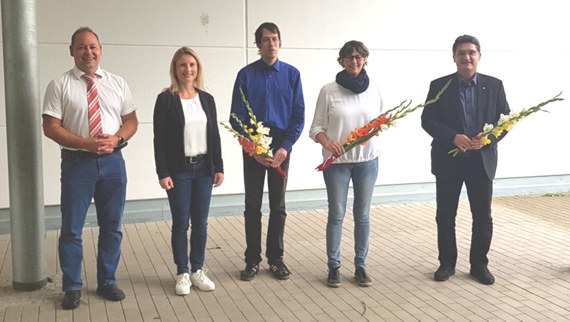 Der neu- und wiedergewählte Auswahlausschuss. Weitere Mitglieder nahmen online an der Sitzung teil. © Regionalentwicklung Kraichgau e.V./Hildenbrand